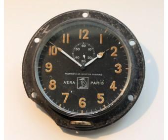 Early French Aircraft Clock AERA Paris