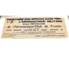 Early Pre WW1 French Aviation Poster March 1909