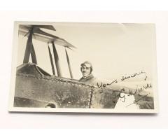 WW1 RFC Pilot F.G.M. Sparks Signed Postcard