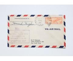 Howard Hughes Original Signed Air Mail Cover 1937