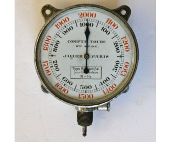 Early French Jaeger AM Aircraft Tachometer