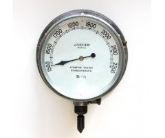Early Jaeger French Aircraft Tachometer / Rev Counter