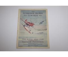 1929 Schneider Trophy Programme