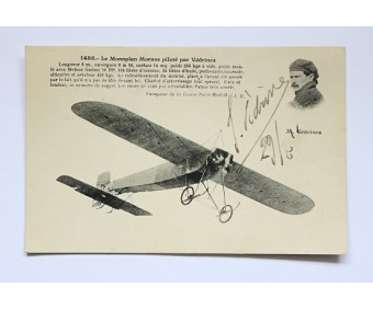 Early French Aviator Jules Védrines Signature 1911