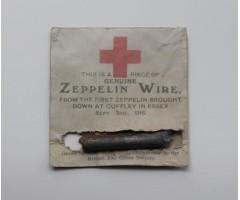 WW1 Zeppelin Red Cross Souvenir Wire