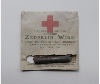 WW1 Zeppelin Red Cross Souvenir Wire
