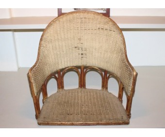 Early French Aircraft Wicker Seat Circa 1910