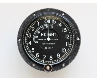 WW1 Zenith Mark V.A. Aircraft Altimeter