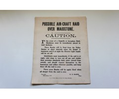 Early WW1 Zeppelin & Aircraft Air Raid Poster